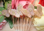 [Aznavour Paris] Hair Combs - 4 Large Butterflies