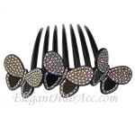 [Aznavour Paris] Hair Comb - Three Butterflies