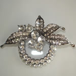 [Eternel] Brooch - Leaves with Crystals