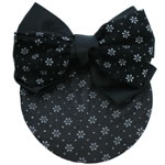 [EHA Premium A] Bun Holder - SR White Daisies in Black