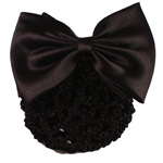 [EHA Premium A] Bun Holder / Bun Cover - TY Silk Bow  Black