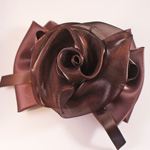 [EHA Premium A] Barrette - Flower Bow Brown