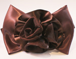 [EHA Premium A] Barrette - 3 Flowers Brown