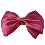 [EHA Premium A] Barrette - Silk Bow Hot Pink