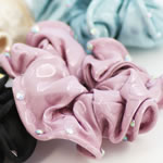 [EHA Premium] Ponytail Holder - Ruffles with Crystals