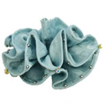 [EHA Premium] Ponytail Holder - Double Edge Ruffles with Crystals
