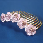 [E. Hair Accessories A] Hair Comb - Colored Flowers(5)
