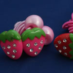 [EHA Premium] Kids Ponytail Holder set - Strawberries