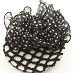 [EHA Premium] Bun Holder / Bun Cover - White & Black Polka dots