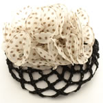 [EHA Premium] Bun Holder / Bun Cover - Brown & Ivory Polka dots