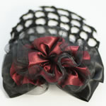 [EHA Premium] Bun Holder / Bun Cover - Chiffon in Burgundy