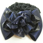 [EHA Premium] Bun Holder / Bun Cover - MB Flower Bow Dark Blue