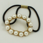 [Eternel] Ponytail Holder - Oval with Pearls