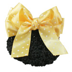[E. Hair Accessories K] Kids Bun Holder - Polkadot Bow (L)