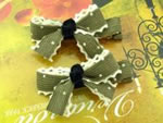 [E. Hair Accessories K] Kids Hair Clip Set - Ruffle Bow