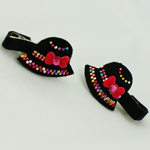 [E. Hair Accessories] Kids Hair Pin Set - Hat