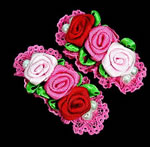 [E. Hair Accessories Kids] Hair Clip set - Triple Roses