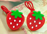 [E. Hair Accessories K] Ponytail Holders - Strawberry