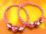 [E. Hair Accessories K] Ponytail Holders - Striped Marbles