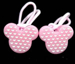 [Elegant Hair Accessories Kids] Ponytail Holder Set - Dotted Micky(M)