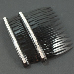 [E. Hair Accessories] Hair Comb Set - One Row of Crystals