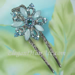 [Elegant Hair Accessories A] Hair Sticks - Blue Orchid