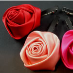 [E. Hair Accessories] Hair Barrette - Silk Rose