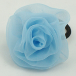 [E. Hair Accessories] Ponytail Holder - Chiffon Flower
