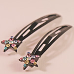 [E. Hair Accessories] Hair Snap Clip Set - Star