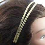 [E. Hair Accessories] Headband - Two Row Braided Golden