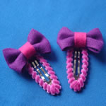 [Elegant Hair Accessories] Kids Hair Clip set - Bow (Wool)