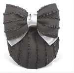 [E. Hair Accessories A] Bun Holder - Frill (Charcoal Gray)