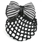 [E. Hair Accessories A] Bun Holder - Black & White Stripes