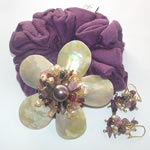Elegance - Purple (Ponytail Holder & Earring set)