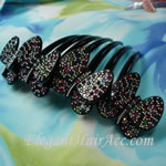 [Aznavour Paris] Hair Comb - Four Butterflies