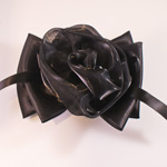 [EHA Premium A] Barrette - Flower Bow Black