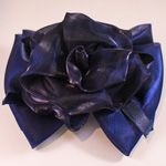 [EHA Premium A] Barrette - Flower Bow Dark Blue