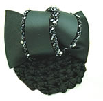 [EHA Premium] Bun Cover - Black Beads