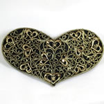 [EHA Premium] Hair Barrette - BST Antique Gold Heart