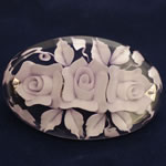 [EHA Premium] Hair Barrette - Handpainted Pale Lavender Flowers