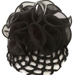 [EHA Premium] Bun Holder / Bun Cover - Chiffon Ruffle Black