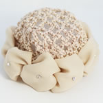 [EHA Premium] Sunflower Bun Holders / Bun Covers - Beige
