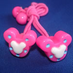 [Elegant Hair Accessories Kids] Ponytail Holder Set - Dotted Micky(S)