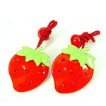 [Elegant Hair Accessories Kids] Ponytail Holders - Strawberry Set