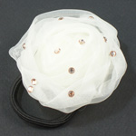 [E. Hair Accessories] Ponytail Holder - Chiffon with Sparkles