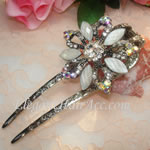 [Elegant Hair Accessories A] Hair Sticks - White Orchid