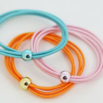 [E. Hair Accessories] Ponytail Holders - Colorful Elastic Bands
