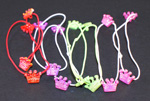 [E. Hair Accessories K] Ponytail Holders - Bundle of Tiny Tiaras